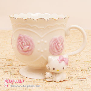 Hello Kitty Tea Cup for my strawberry flavoured kids rooibos tea
