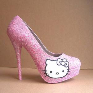 Killer Hello Kitty Heels - the perfect combination of cute and sexy
