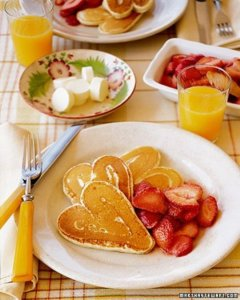 Get the Recipe and how to at http://www.marthastewart.com/318925/heart-pancakes